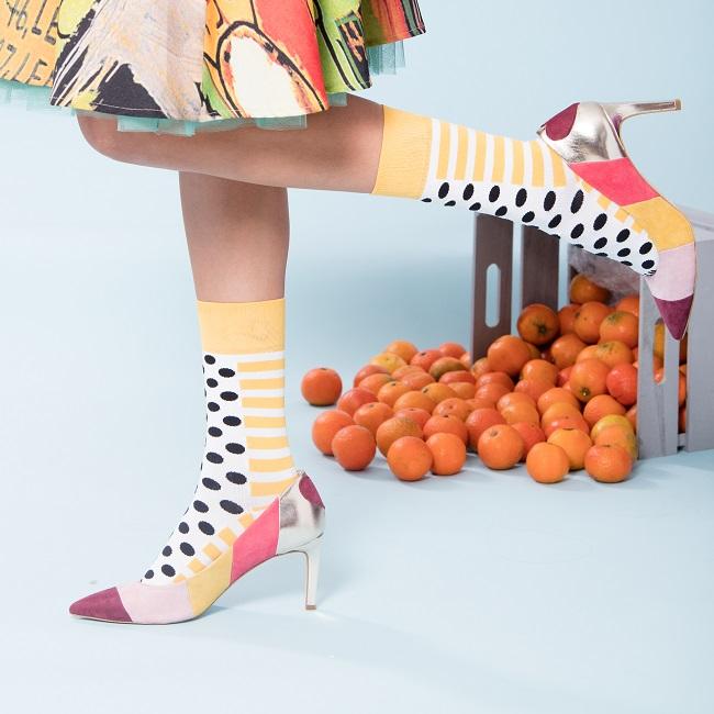 Calza Corta Stripes & Dots