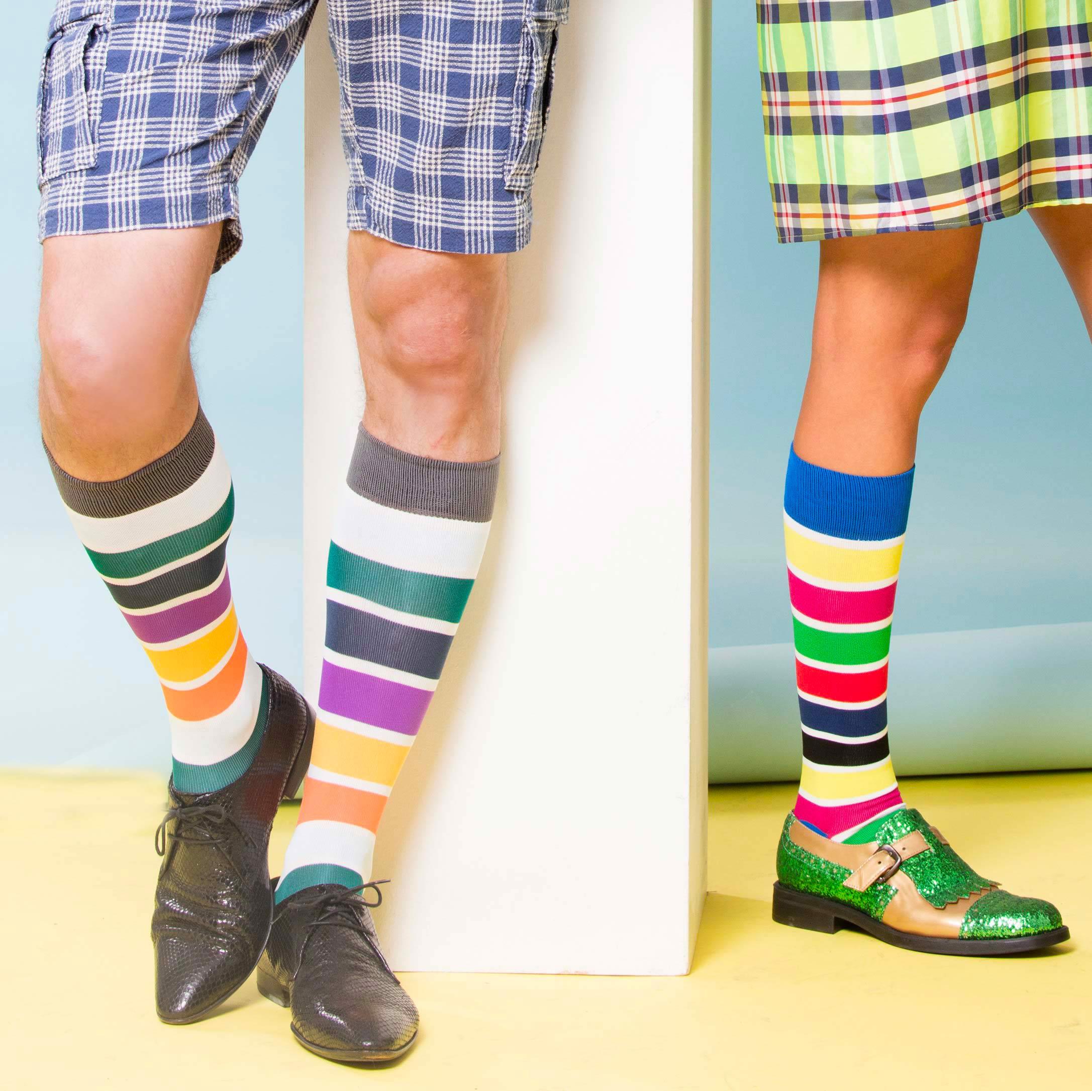 Multi Stripes Knee-High